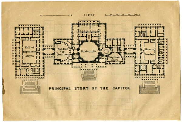 Plan of the U.S. Capitol 1904