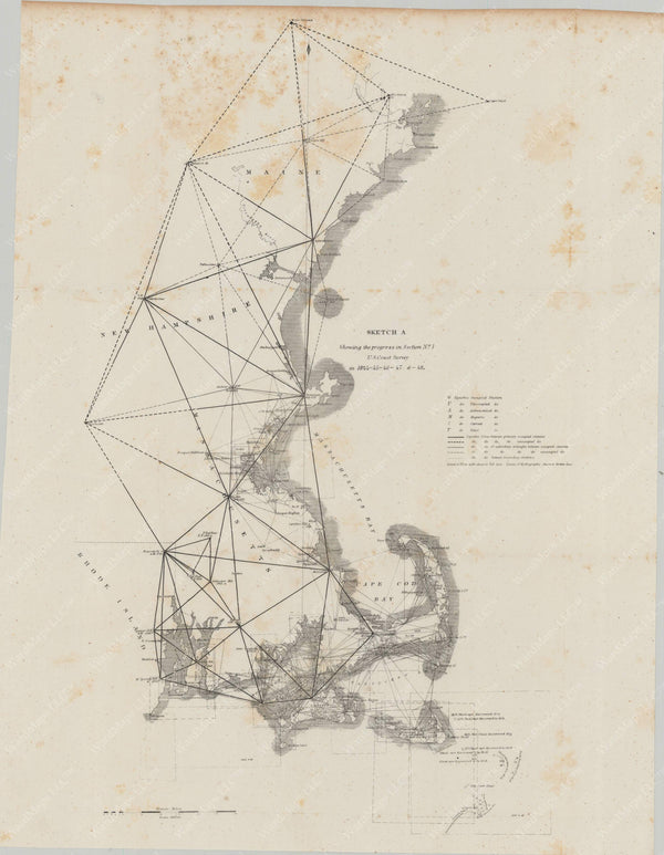 New England Coast: Progress of U.S. Coast Survey 1848