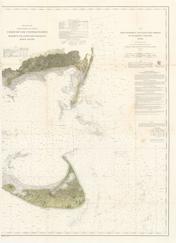 United States Coast: Monomoy and Nantucket Shoals to Muskeget Channel, Massachusetts 186X
