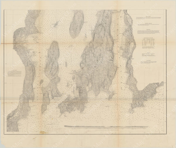 Narragansett Bay, Rhode Island 1873 South Sheet