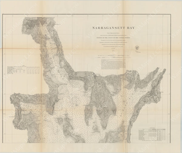 Narragansett Bay, Rhode Island 1873 North Sheet
