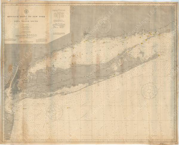 USCS Connecticut and New York: Montauk Point to New York and Long Island Sound 1911