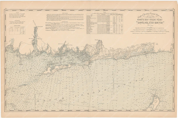 Connecticut Coast 1893: Niantic Bay to Rock Point