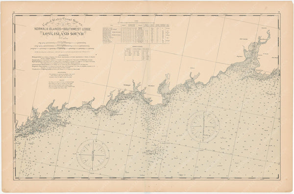 Connecticut Coast 1893: Norwalk Islands to Southwest Ledge