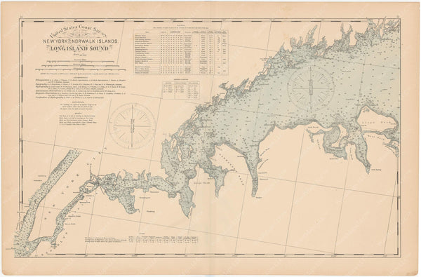 Connecticut Coast 1893: New York City to Norwalk Islands