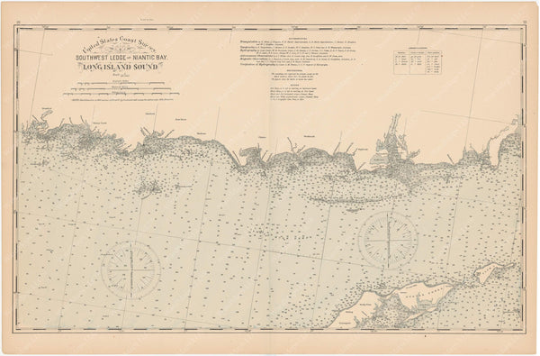 Connecticut Coast 1893: Southwest Ledge to Niantic Bay