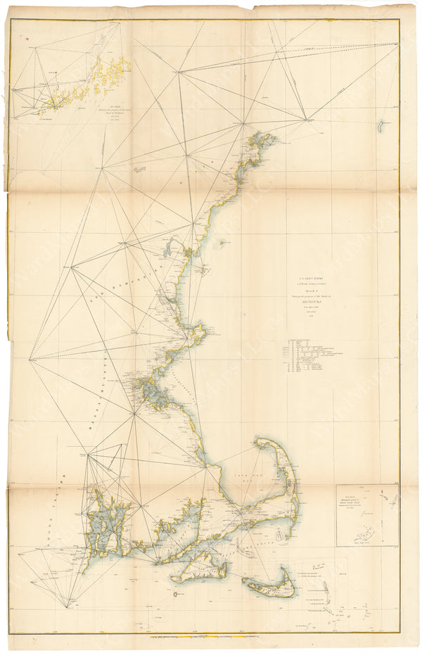 New England Coast: Progress of Coast Survey 1852