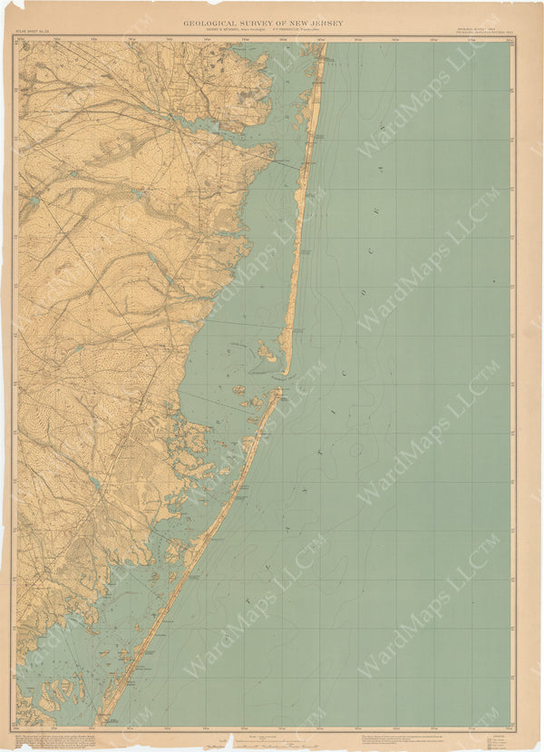 Geological Survey of New Jersey 1905 Sheet 033