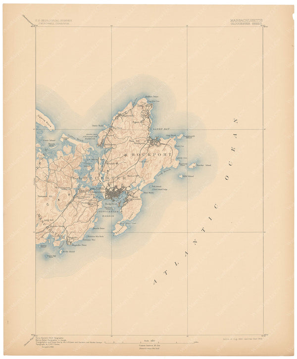 USGS Massachusetts: Gloucester Sheet 1906