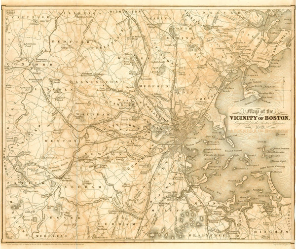 Boston, Massachusetts 1871: Vicinity of Boston
