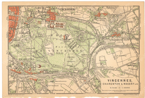 Paris, France 1894: Bois de Vincennes