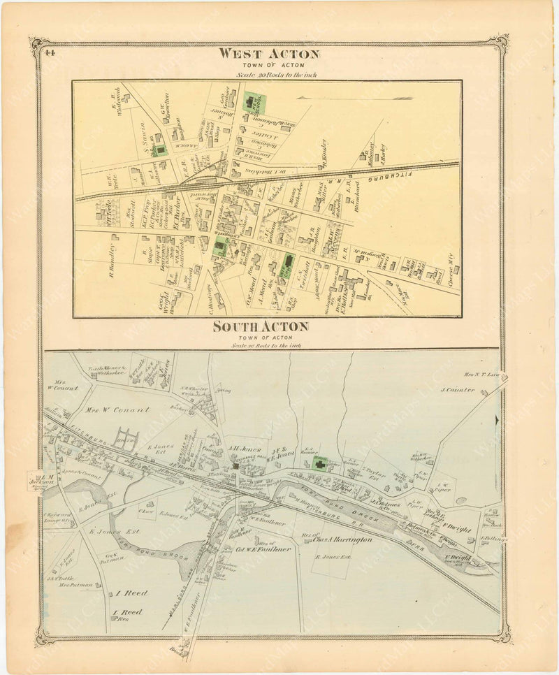 Acton, Massachusetts: South Acton and West Acton 1875