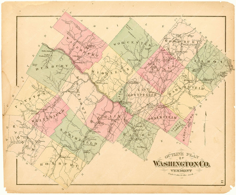 Washington County, Vermont 1873