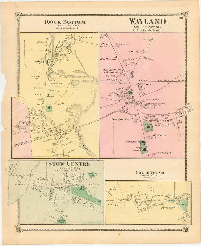 Stow and Wayland, Massachusetts 1875