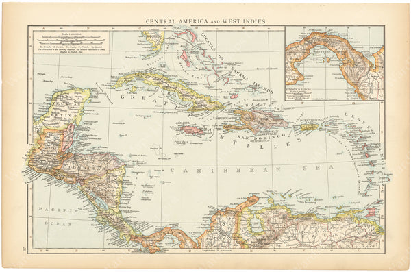 West Indies and Central America 1895