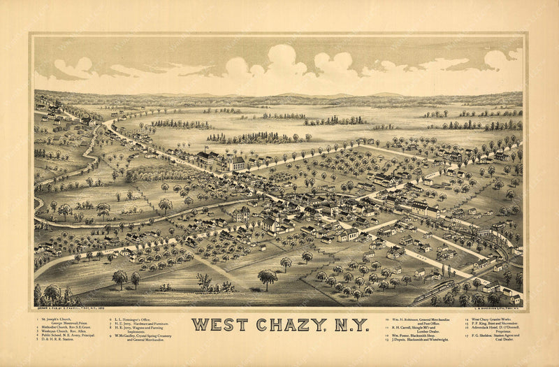 Chazy, New York 1899: West Chazy