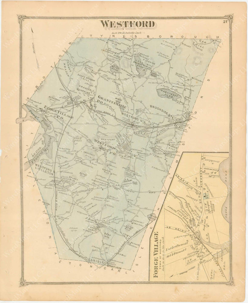Westford, Massachusetts 1875