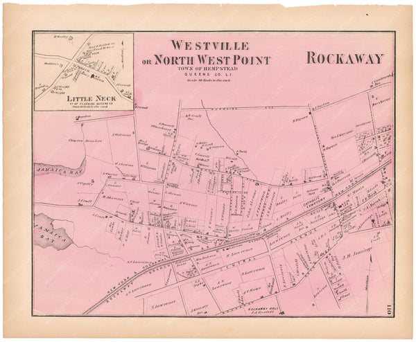 Flushing: Little Neck; Hempstead: Rockaway, and Westville, New York 1873