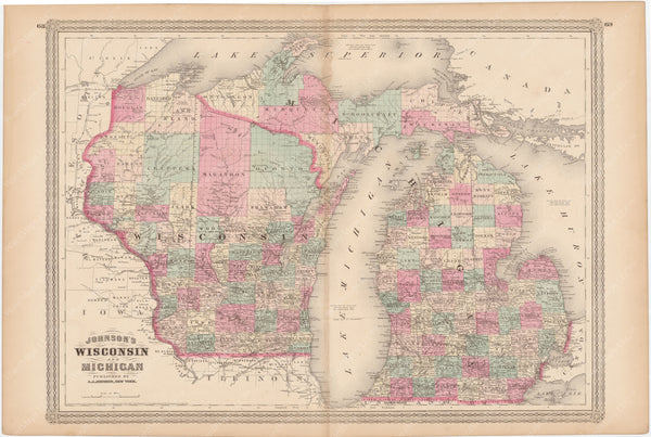 Michigan and Wisconsin 1873