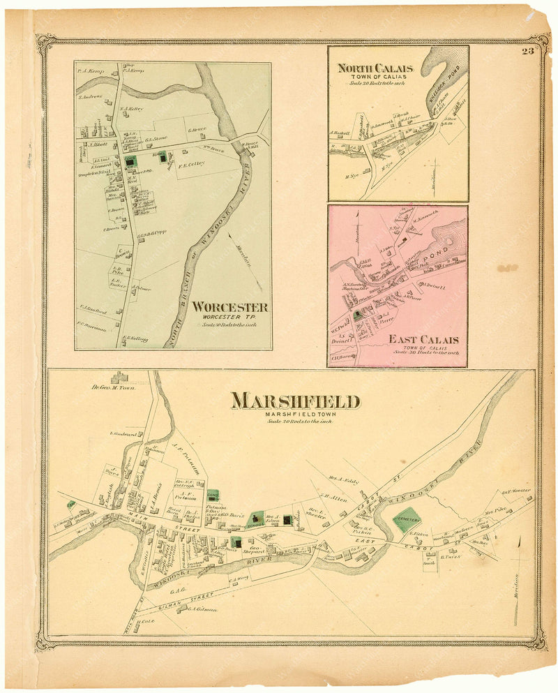 Calais, Marshfield, and Worcester, Vermont 1873