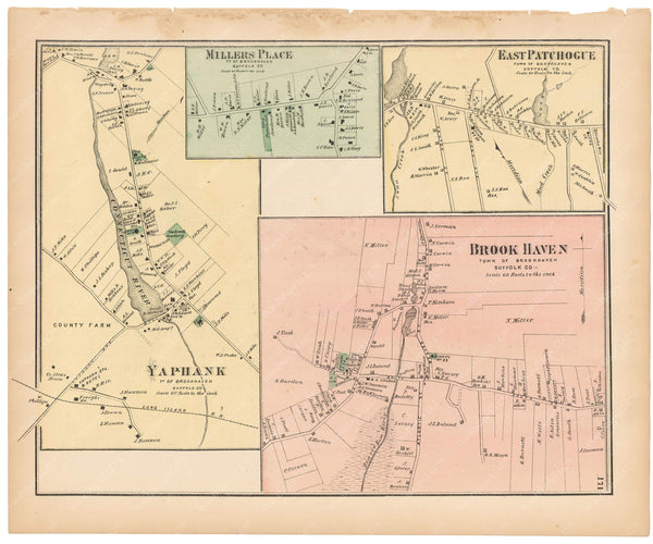 Brookhaven: Brook Haven, East Patchogue, Millers Place and Yaphank, New York 1873