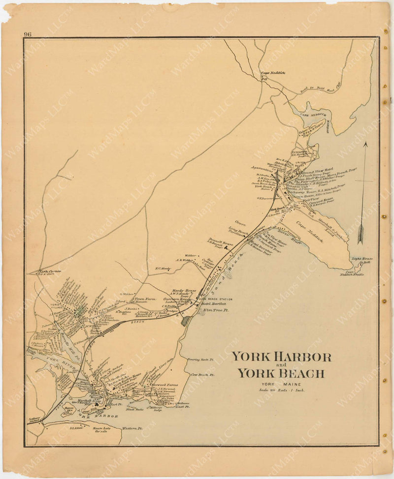 York Harbor and York Beach, Maine 1894-95