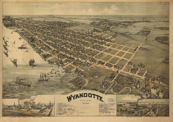 Wyandotte, Michigan 1869