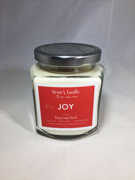 Drew's Candle -Peppermint Bark-Joy