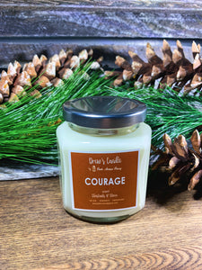 Drew's Candle - Chestnuts & Clove-Courage-NEW SCENT!