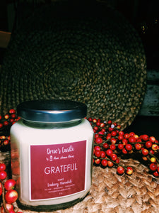 Drew's Candle -Cranberry Marmalade-Grateful