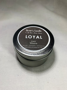 Drew's Tin Candle - Tobacco-Loyal