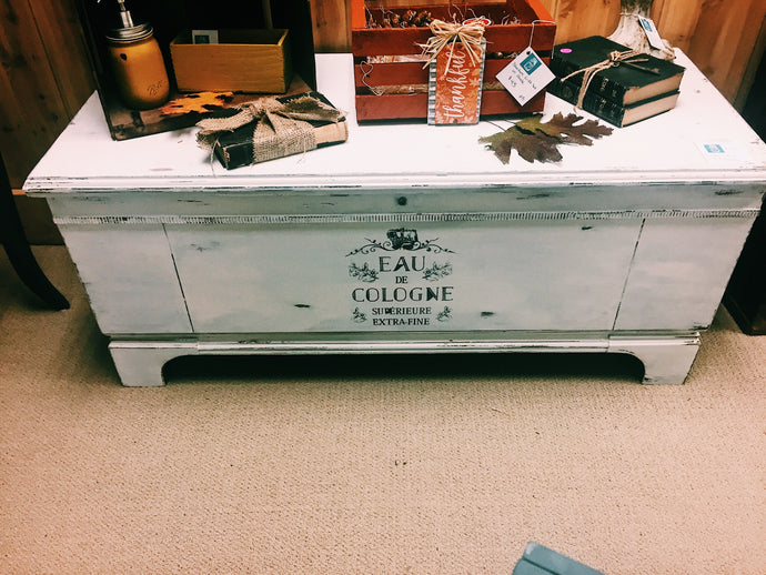Painted Cedar Chest - Local Pick Up Only