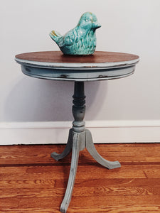 Round Blue Accent Table -Local Pick Up only