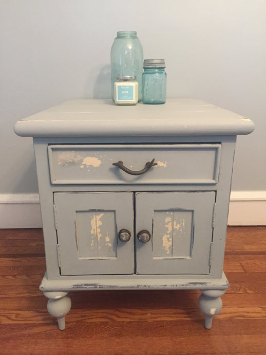 Beachy Bluish Gray Side Table Local Pick Up Only