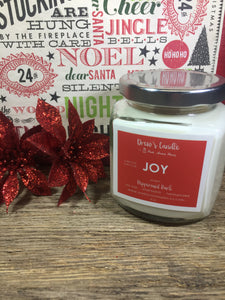 Drew's Candle -Peppermint Bark