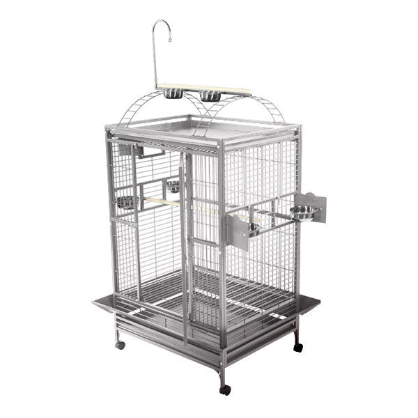 "A&E Cage Co. 36""x28"" Stainless Steel Majestic Play Top Bird Cage"