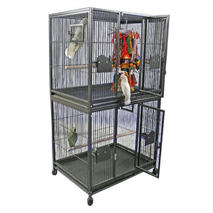 "A&E Cage Co. 40""x30"" Classico Double Stack Bird Cage"