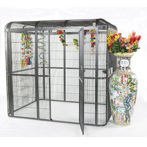 "A&E Cage Co. 85""x61"" Walk-In Aviary - 1/2"" Bar Spacing"