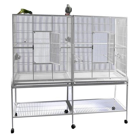 "A&E Cage Co. 64""x21"" Double Stack Flight Cage"