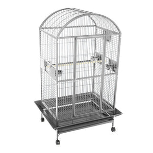 "A&E Cage Co. 48""x36"" Stainless Steel Mondo Dome Top Bird Cage"