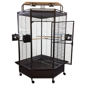 "A&E Cage Co. 32"" Large Corner Hideaway Bird Cage"