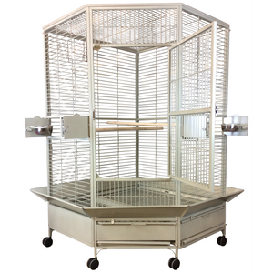 "A&E Cage Co. 42"" XL Corner Hideaway Bird Cage"