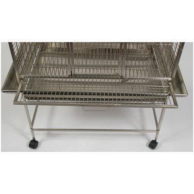 "A&E Cage Co. 32""x23"" Stainless Steel Refuge Dome Top Bird Cage"