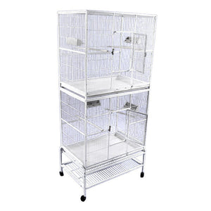 "A&E Cage Co. 32""x21"" Forte Double Stack Bird Cage"
