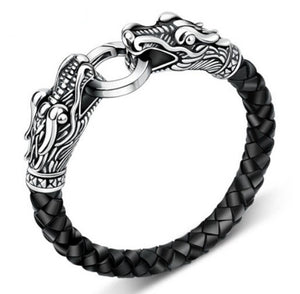 HOT STYLISH DRAGON leather bracelet