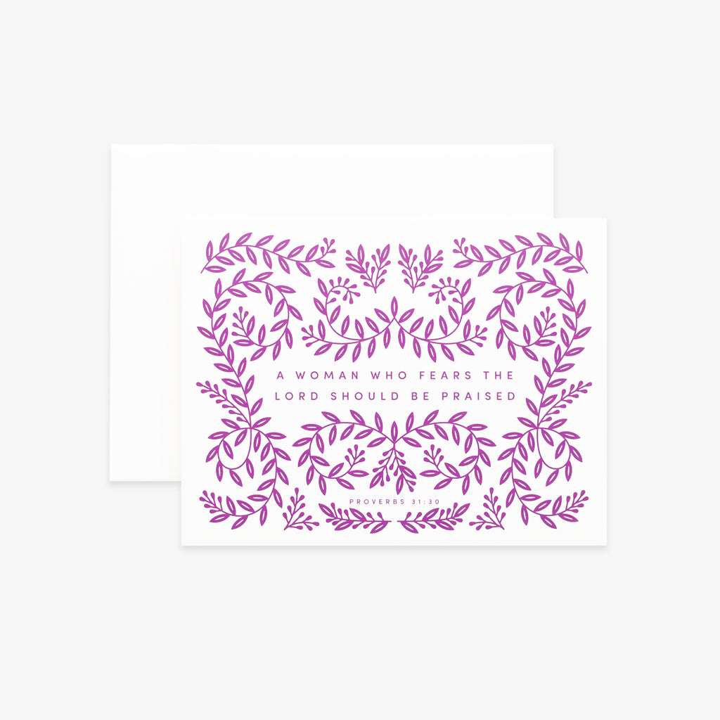 A Woman Who Fears, Floral Greeting Card