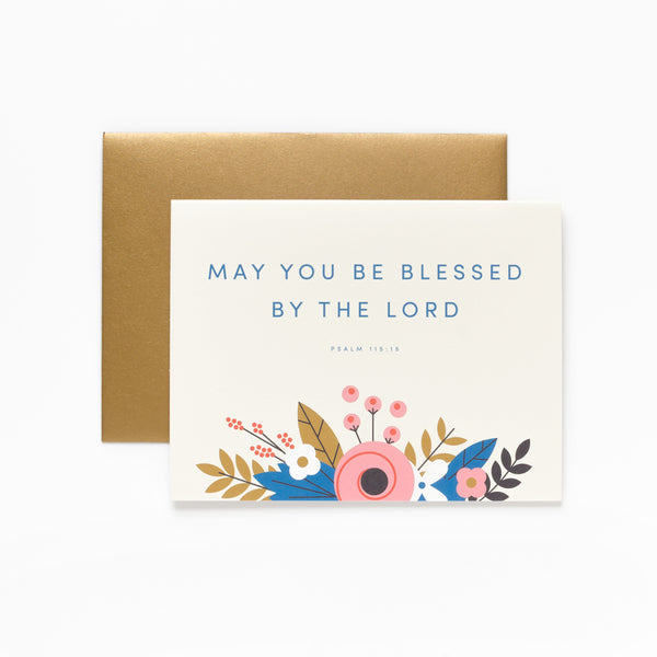 Be Blessed, Floral Greeting Card
