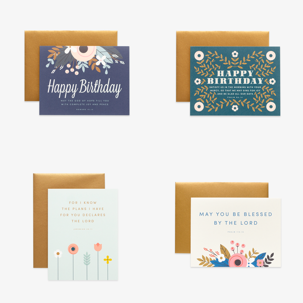 Birthday Floral, Assorted Card Set