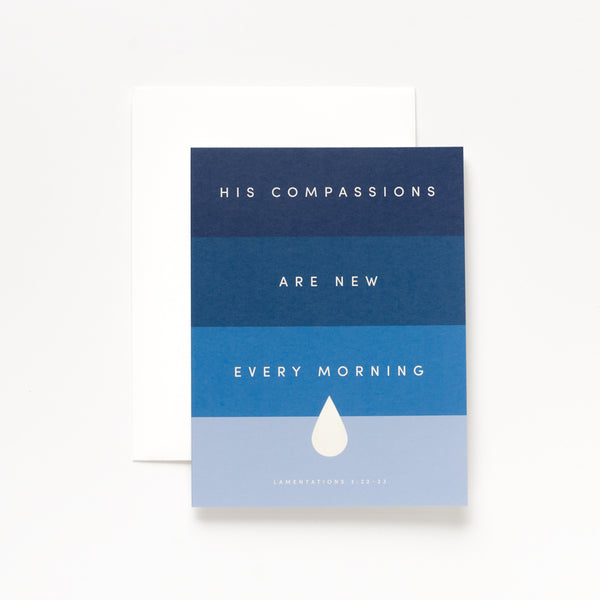 Compassions, Blue Greeting Card