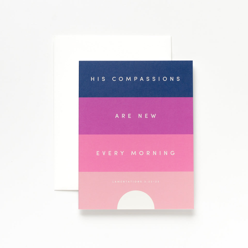Compassions, Pink Greeting Card